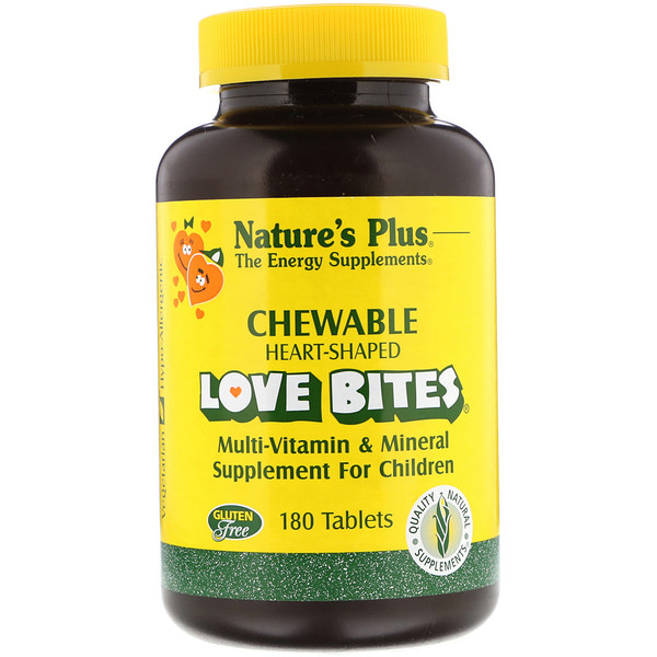 Nature's Plus, Love Bites, Multi-Vitamin & Mineral, Supplement For Children, 180 Tablets (Discontinued Item)