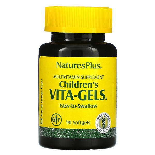 Children's Vita-Gels, Multivitamin Supplement, Natural Orange, 90 Softgels
