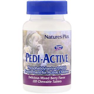 Nature's Plus, Pedi-Active, добавка для активных детей, со вкусом ягодной смеси, 120 жевательных таблеток