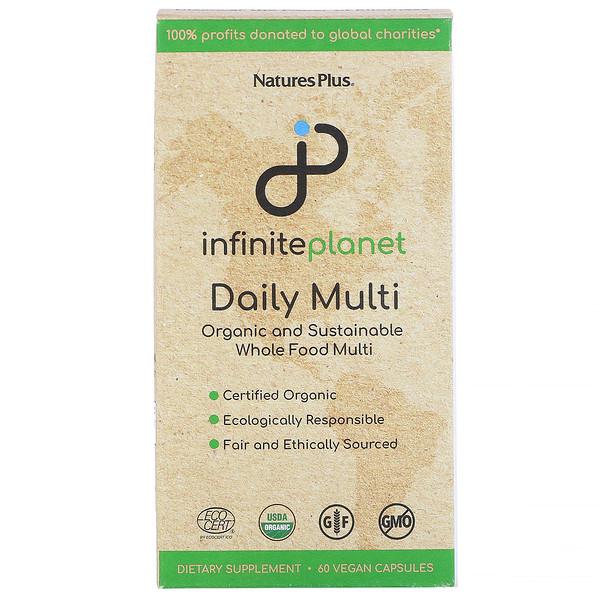 Nature's Plus, Infinite Planet, Daily Multi, 60 Vegan Capsules