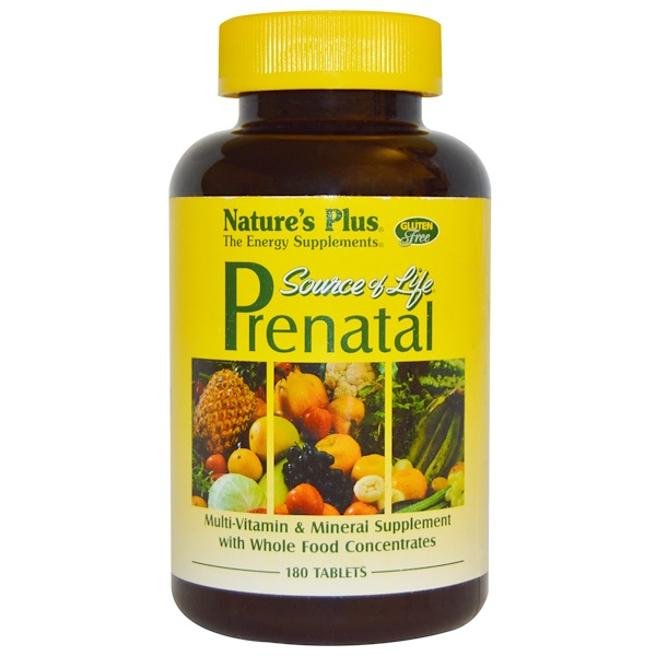 Nature's Plus, Source of Life, Prenatal, 180 Tablets (Discontinued Item)