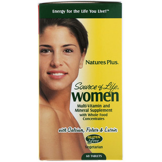 Nature's Plus, Source of Life, Women, Multi-Vitamin and Mineral Supplement with Whole Food Concentrates, 60 Tablets