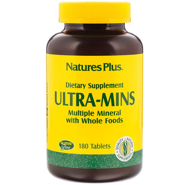 Ultra-Mins, Multiple Mineral with Whole Foods, 180 Tablets