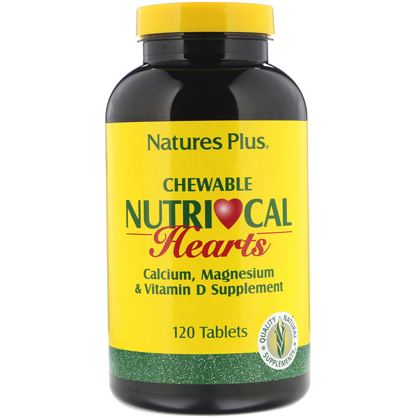 Nature's Plus, Nutri-Cal Hearts, Chewable, 120 Tablets