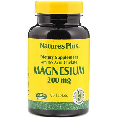 Купить Nature's Plus Магний, 200 мг, 90 таблеток