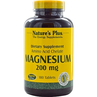 Nature's Plus, Magnesium, 200 mg, 180 Tablets