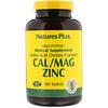 Nature's Plus, Cal/Mag Zinc, 180 Tablets