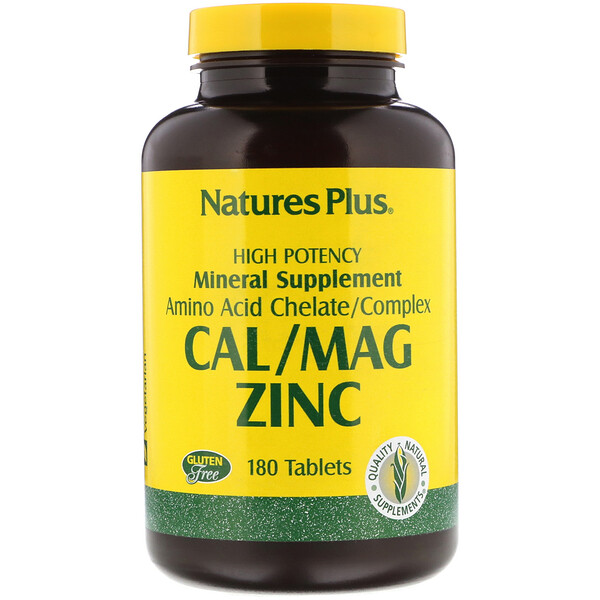 Nature's Plus, Cal/Mag Zinc, 180 Tablets