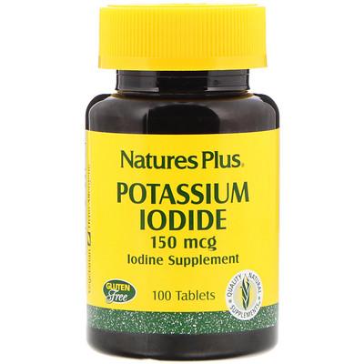 Natures Plus Йодид калия, 150мкг, 100таблеток