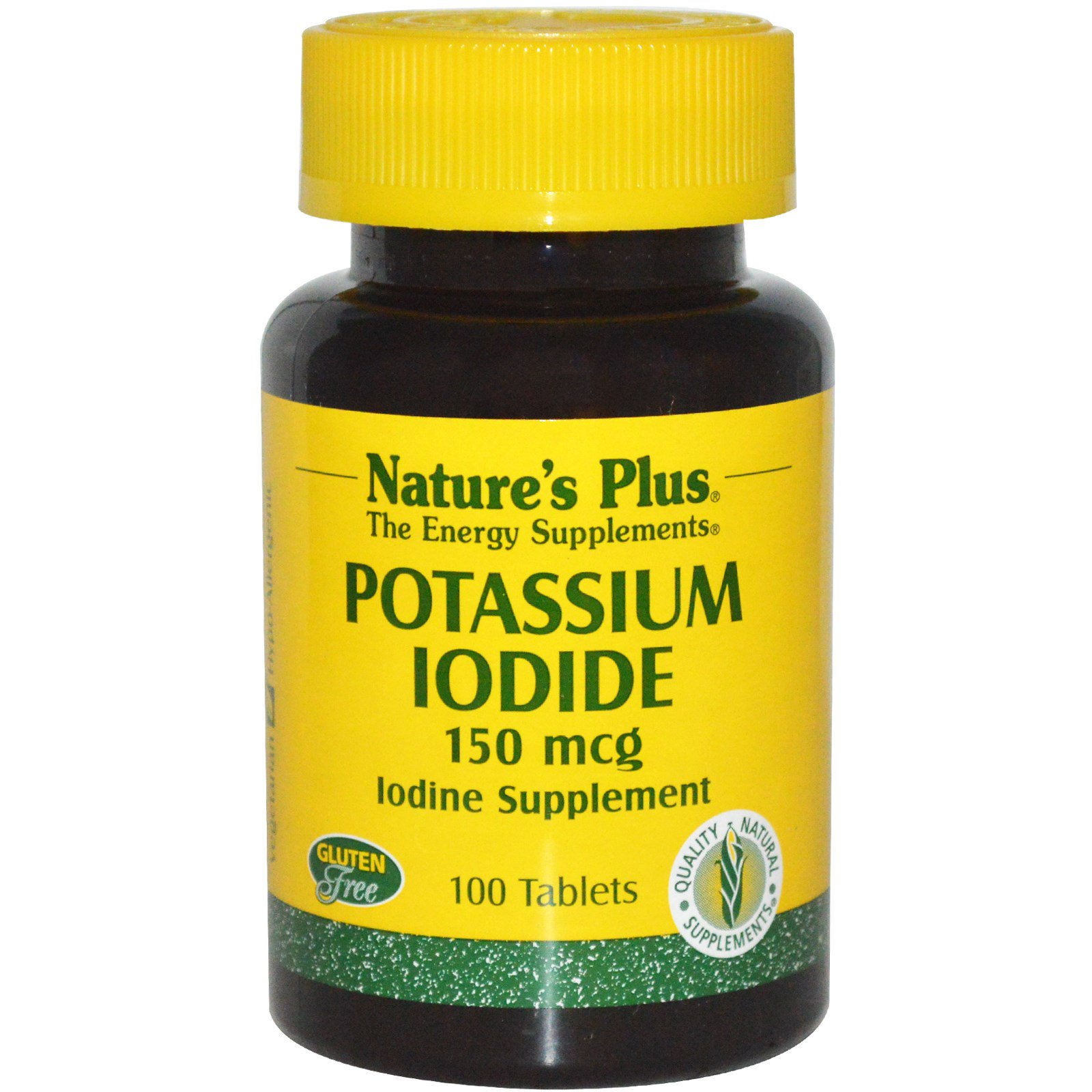 Nature 39 s plus potassium iodide 150 mcg 100 tablets for Potassium in fish