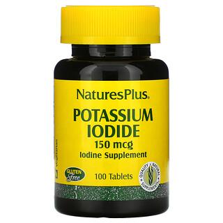 Nature's Plus, йодид калия, 150мкг, 100таблеток