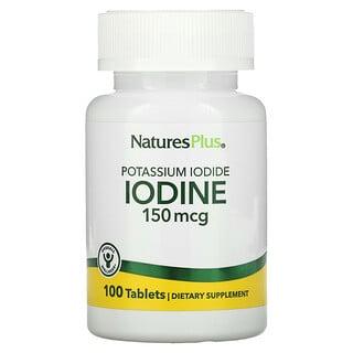 Nature's Plus, Potassium Iodide, 150 mcg, 100 Tablets