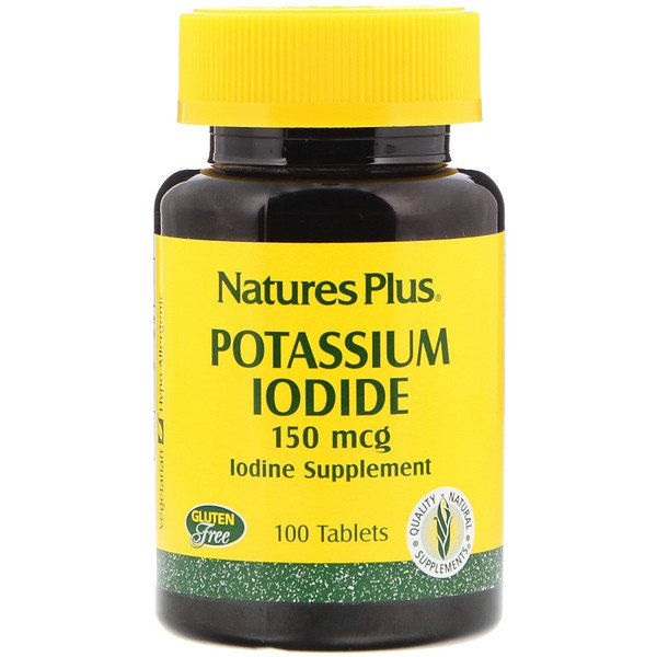 Nature's Plus, Yoduro de potasio, 150 mcg, 100 comprimidos