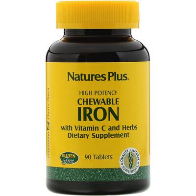 Купить Chewable Iron, 90 таблеток с вишневым вкусом