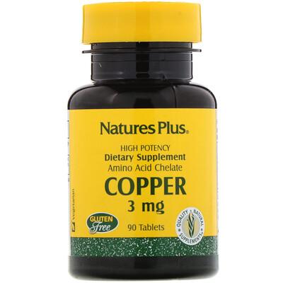 Купить Nature's Plus Медь, 3 мг, 90 таблеток