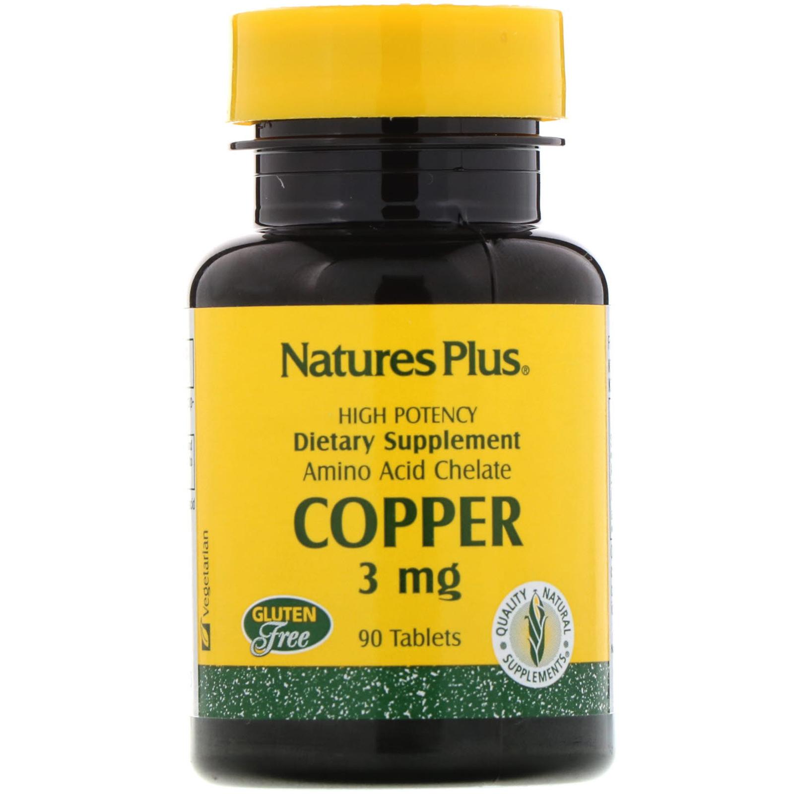 Nature's Plus, Copper, 3 mg, 90 Tablets - iHerb com