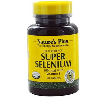 Nature's Plus, Super Selenium, 200 mcg, 90 Tablets