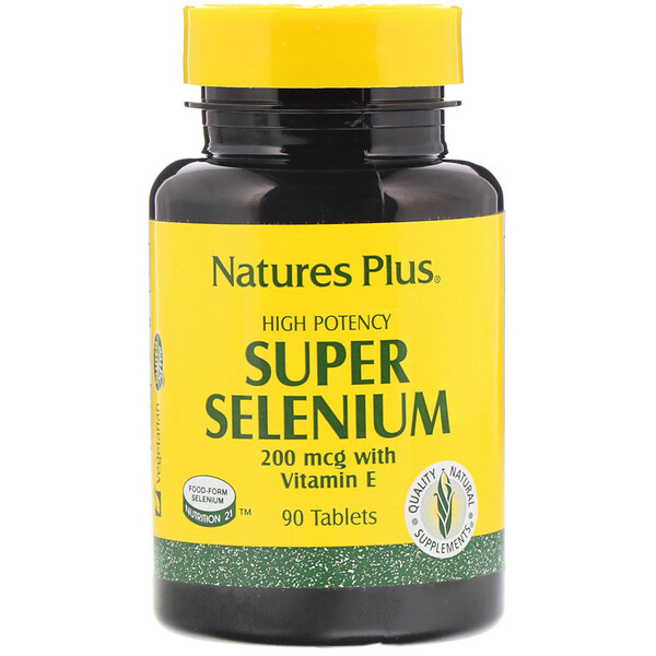 Nature's Plus, Super Selenium, High Potency, 200 mcg, 90 Tablets