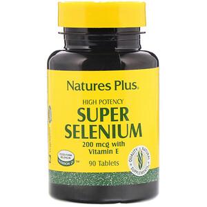 Натурес Плюс, Super Selenium, High Potency, 200 mcg, 90 Tablets отзывы покупателей