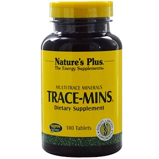 Nature's Plus, Trace-Mins, 180 Tablets