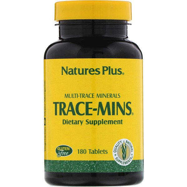 Nature's Plus, Trace-Mins, Multi-Trace Minerals, 180 Tablets
