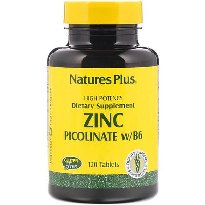 Купить Nature's Plus Пиколинат цинка с витамином B-6, 120 таблеток