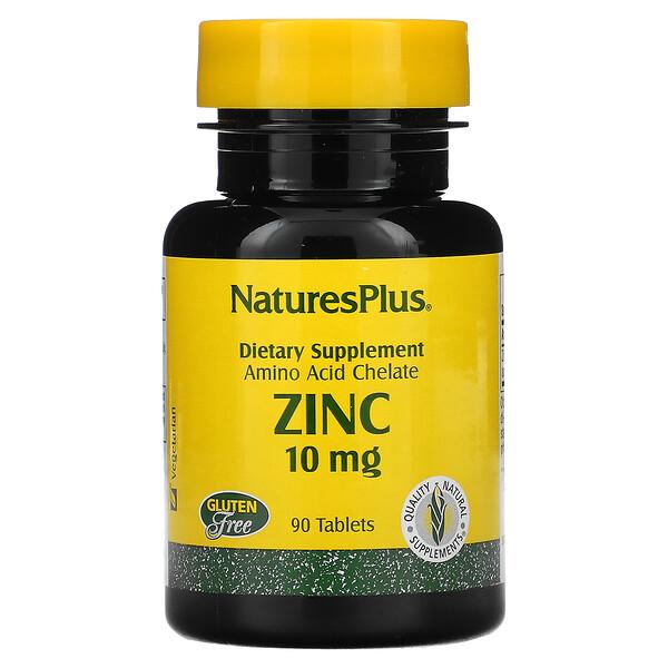 Zinc, 10 mg, 90 Tablets