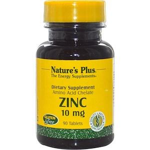 Nature's Plus, Цинк, 10 мг, 90 таблеток инструкция, применение, состав, противопоказания