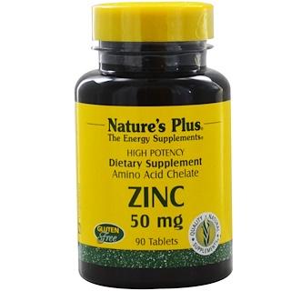 Nature's Plus, Zinc, 50 mg, 90 Tablets