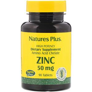 Натурес Плюс, Zinc, 50 mg, 90 Tablets отзывы