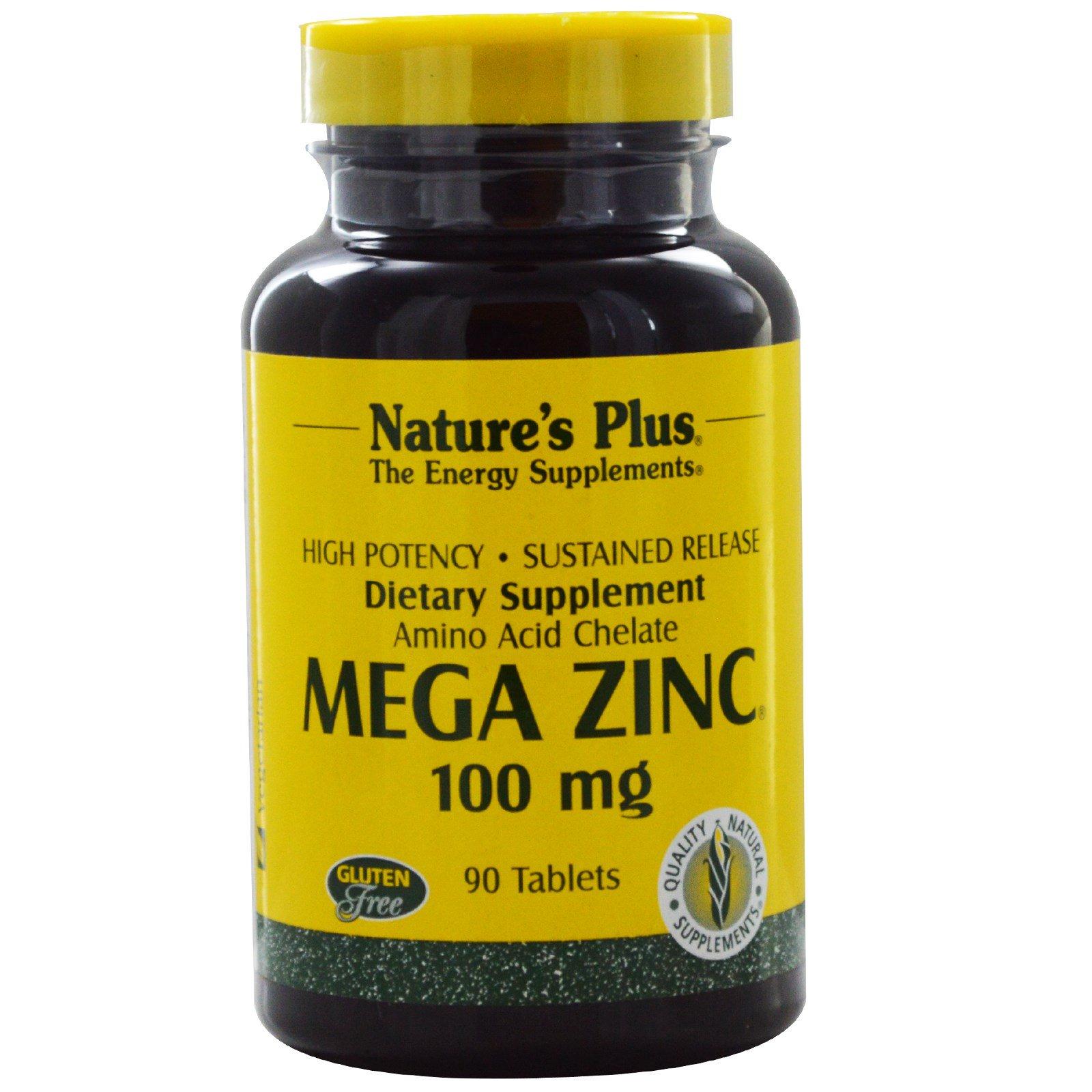 Nature's Plus, Мега цинк, 100 мг, 90 таблеток