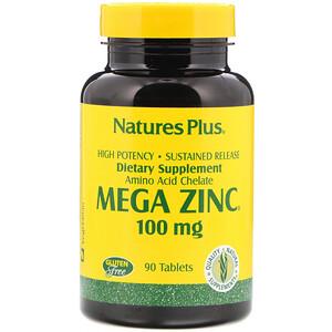 Натурес Плюс, Mega Zinc, 100 mg, 90 Tablets отзывы