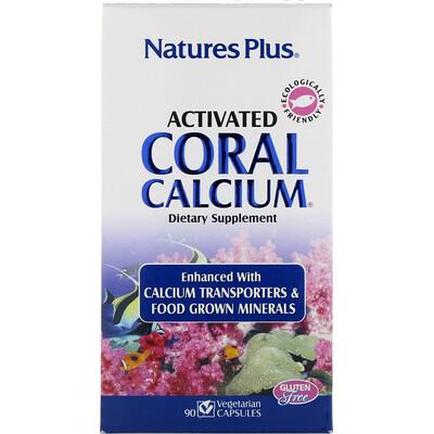Купить Nature's Plus Активированный Коралловый Кальций, 90 Капсул