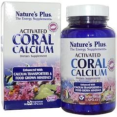 Nature's Plus, 활성화된 산호 칼슘, 90 베지 캡