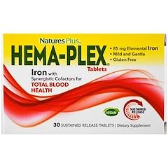 Nature's Plus, Hema-Plex, 30 Sustained Release Tablets