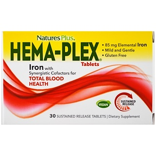 Nature's Plus, Hema-Plex、30徐放錠