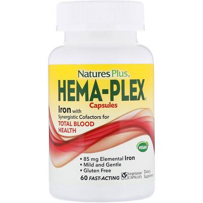 Hema-Plex, 60 вегетарианских капсул быстрого действия очиститель инжекторов быстрого действия на 40 60 литров