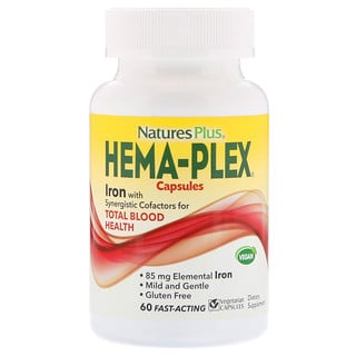 Nature's Plus, Hema-Plex,60粒素食膠囊