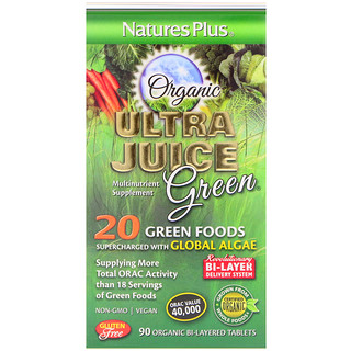 Nature's Plus, Ultra Juice Green, 90 comprimidos