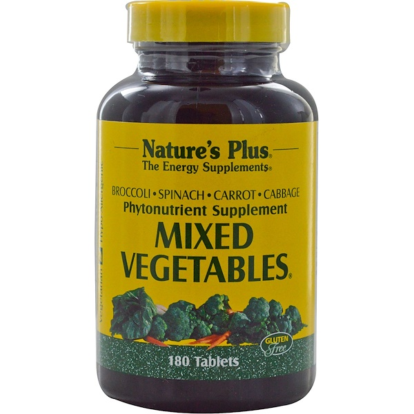 Nature's Plus, Смесь овощей, 180 таблеток
