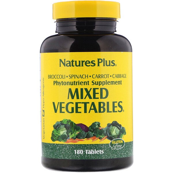 Mixed Vegetables (Vetegales Mixtos), 180 Tabletas