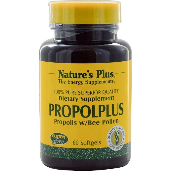 Nature's Plus, Propolplus, Propóleos con Polen de Abeja, 60 Cápsulas Blandas