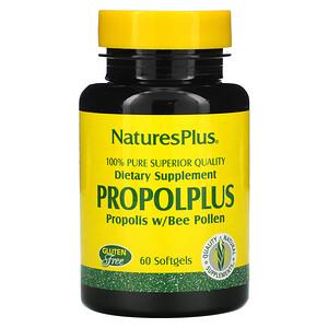 Натурес Плюс, Propolplus, Propolis w/Bee Pollen, 60 Softgels отзывы