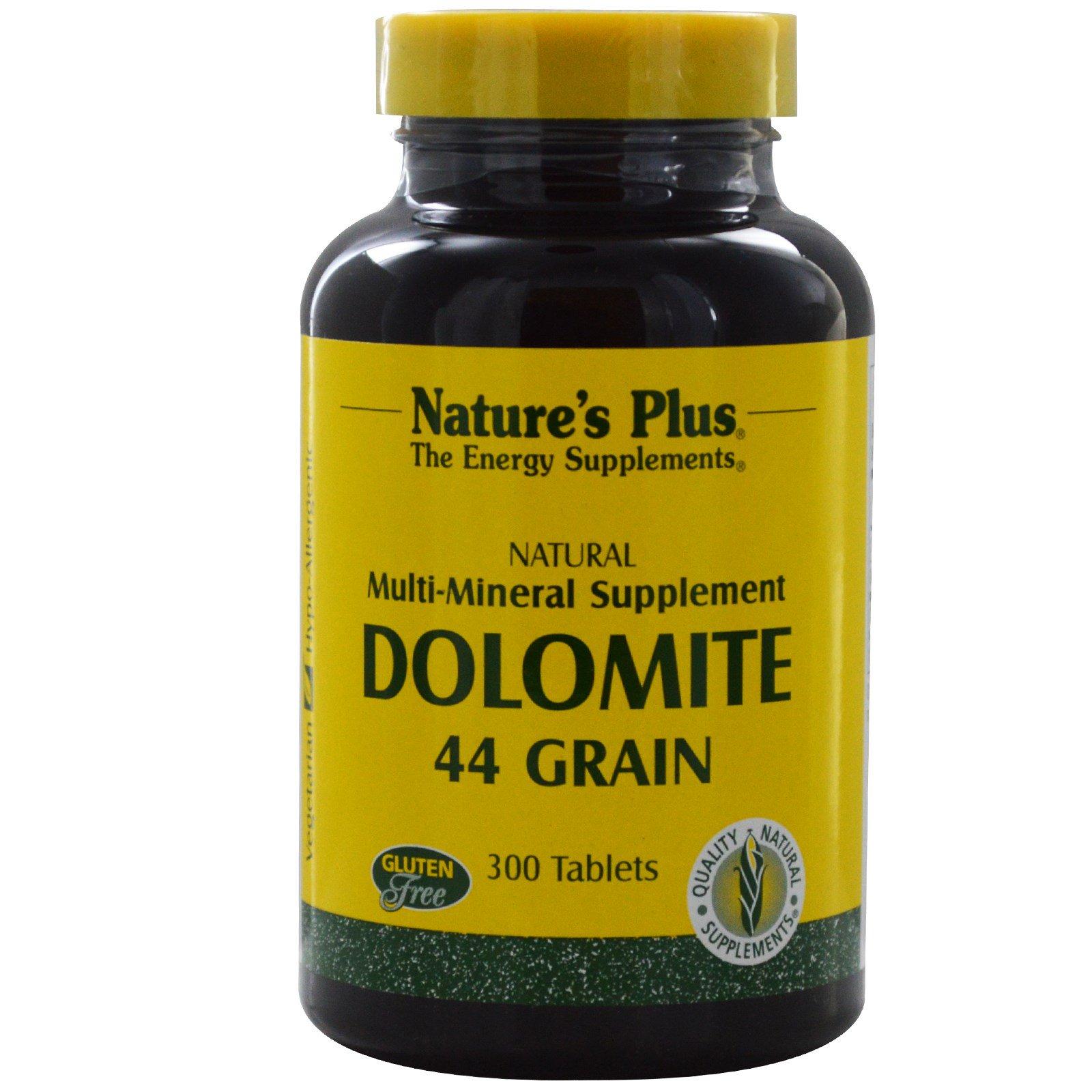 Nature's Plus, Доломит, 44 грана, 300 таблеток