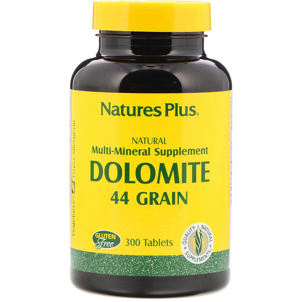 Nature's Plus, Dolomita, 44 Granos, 300 Tabletas (Discontinued Item)