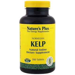 Nature's Plus, Norwegian Kelp, 300 Tablets