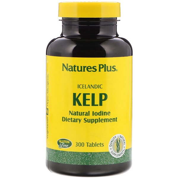 Nature's Plus, Icelandic Kelp, 300 таблеток
