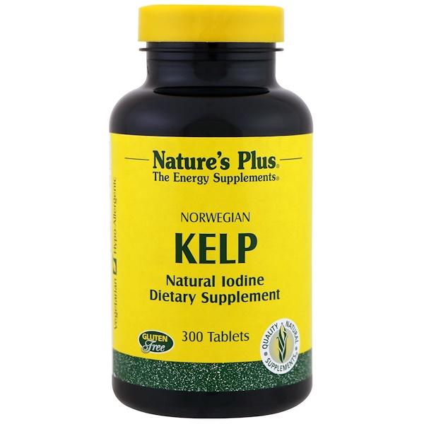 Nature's Plus, Norwegian Kelp, 300 Tablets