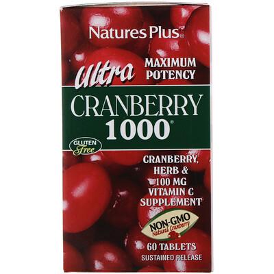 Купить Nature's Plus Ultra Cranberry 1000, 60 таблеток
