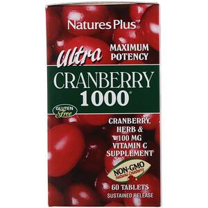 Натурес Плюс, Ultra Cranberry 1000, 60 Tablets отзывы